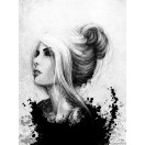 Fotografie tapet Femeie - alb-negru