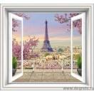 Fotografie tapet Fereastra spre Paris