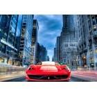 Fotografie tapet Ferrari rosu