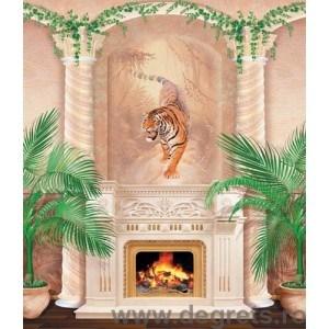 Fotografie tapet semineu tigru