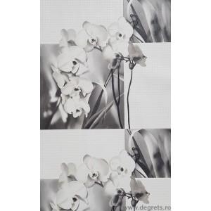 Tapet PVC Orhidee alb
