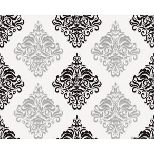 Tapet vinil Venetia 1 3D alb-negru