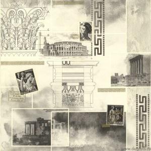 Tapet PVC Roma - Versace gri