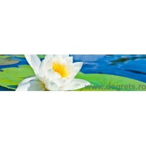 Panou decorativ lotus alb