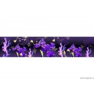 Panou decorativ Iris cu un efect 3D de aur