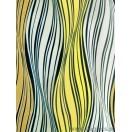 Autocolant Val alb-galben 3D