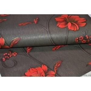 Tapet hârtie Demi negru-rosu