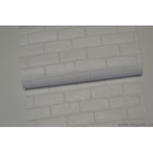 Tapet vinil Caramida 3D alb
