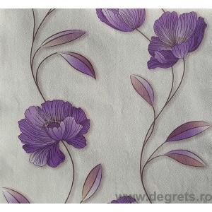 Tapet hârtie Mira alb-violet