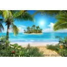 Fotografie tapet plaja tropicala