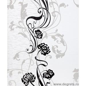 Tapet vinil feeric floral negru