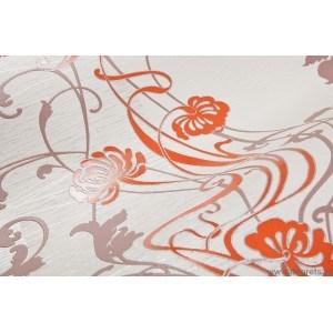 Tapet vinil feeric floral oranj