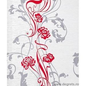 Tapet vinil feeric floral rosu