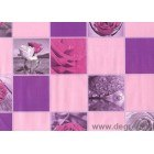 Tapet PVC Trandafir violet
